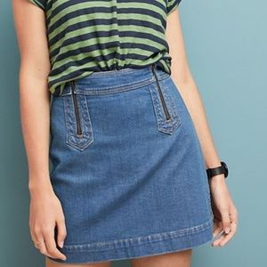 [Anthropologie] NWT A-line Denim Mini Skirt